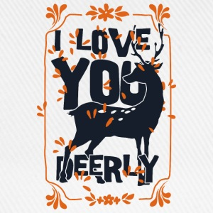I love you deerly- Liebe Hirsch Reh Tier T-shirts - Basebollkeps