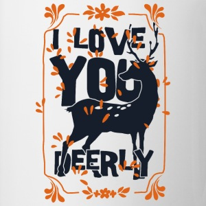I love you deerly- Liebe Hirsch Reh Tier T-shirts - Mugg