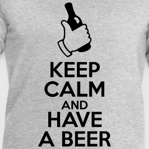 t-shirt keep calm and have a beer  - Sweat-shirt Homme Stanley & Stella