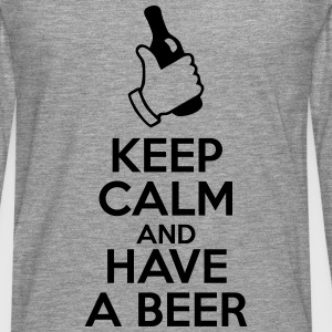 t-shirt keep calm and have a beer  - T-shirt manches longues Premium Homme