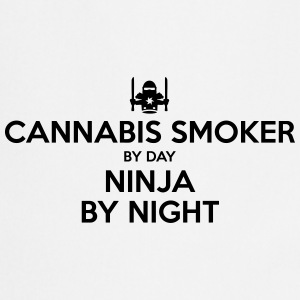 cannabis smoker day ninja by night - Cooking Apron