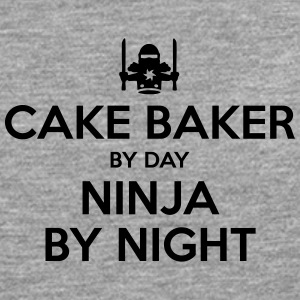 cake baker day ninja by night - Men's Premium Longsleeve Shirt