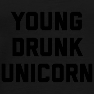 Young Drunk Unicorn Funny Quote Kasketter & huer - Herre premium T-shirt