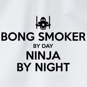bong smoker day ninja by night - Drawstring Bag