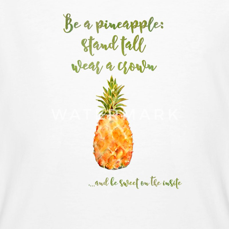 Be a pineapple - Ananas lustig Spruch Krone  T-Shirts - Männer Bio-T-Shirt
