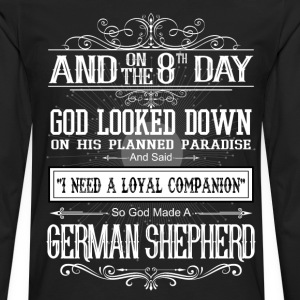 And8th Day God Look Down God Made A German Shepher T-Shirts - Men's Premium Longsleeve Shirt