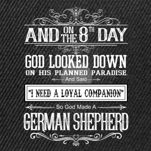 And8th Day God Look Down God Made A German Shepher T-Shirts - Snapback Cap
