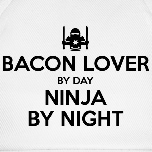 bacon lover day ninja by night - Baseball Cap