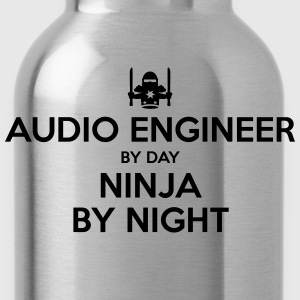 audio engineer day ninja by night - Water Bottle