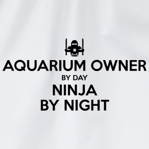 aquarium owner day ninja by night - Drawstring Bag