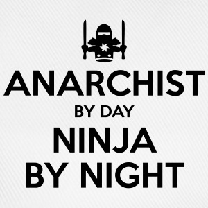 anarchist day ninja by night - Baseball Cap