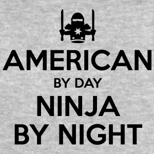american day ninja by night - Men's Sweatshirt by Stanley & Stella