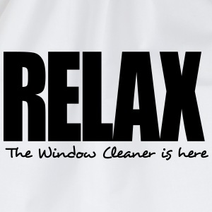 relax the window cleaner is here - Drawstring Bag