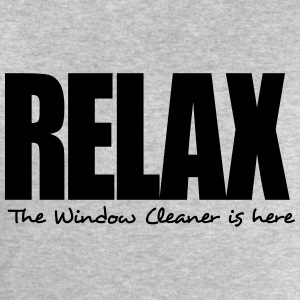 relax the window cleaner is here - Men's Sweatshirt by Stanley & Stella