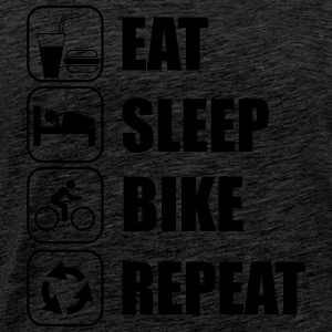Eat,sleep,bike,repeat Bicicleta T-shirt - Camiseta premium hombre