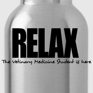 relax the vetinary medicine student is h - Water Bottle