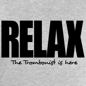 relax the trombonist is here - Men's Sweatshirt by Stanley & Stella