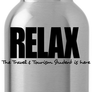 relax the travel  tourism student is her - Water Bottle
