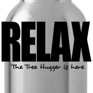 relax the tree hugger is here - Water Bottle