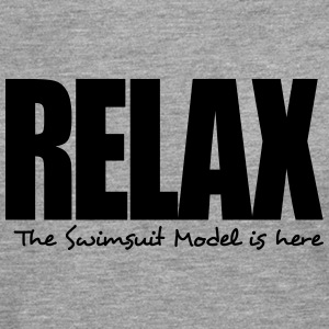 relax the swimsuit model is here - Men's Premium Longsleeve Shirt