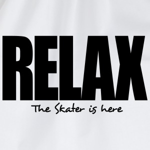 relax the skater is here - Drawstring Bag