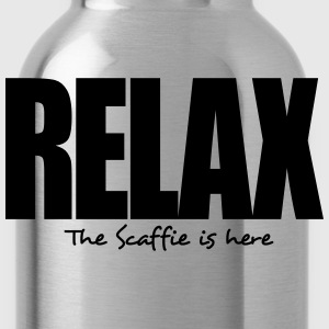 relax the scaffie is here - Water Bottle