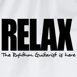 relax the ryhthm guitarist is here - Drawstring Bag