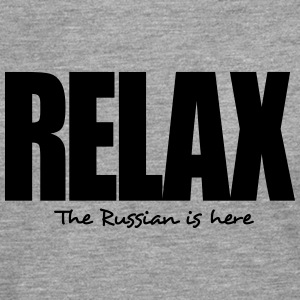 relax the russian is here - Men's Premium Longsleeve Shirt