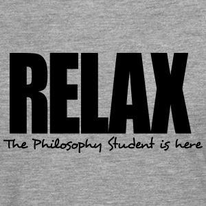relax the philosophy student is here - Men's Premium Longsleeve Shirt