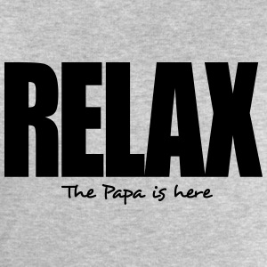 relax the papa is here - Men's Sweatshirt by Stanley & Stella