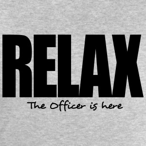 relax the officer is here - Men's Sweatshirt by Stanley & Stella