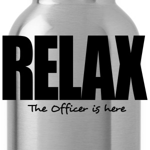 relax the officer is here - Water Bottle