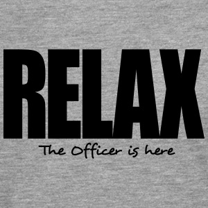 relax the officer is here - Men's Premium Longsleeve Shirt