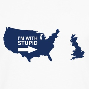 Trump Brexit - I'm with Stupid - Men's Premium Longsleeve Shirt