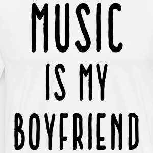 Music Is Boyfriend Quote Forklæder - Herre premium T-shirt