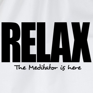 relax the meditator is here - Drawstring Bag