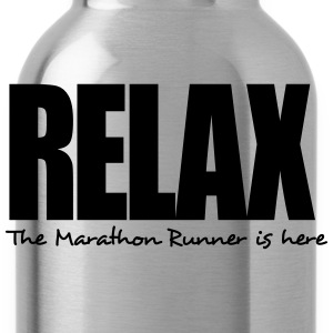 relax the marathon runner is here - Water Bottle