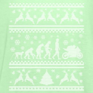 MERRY CHRISTMAS MOTORCYCLISTS! (UGLY SWEATER) T-Shirts - Women's Tank Top by Bella