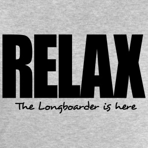relax the longboarder is here - Men's Sweatshirt by Stanley & Stella