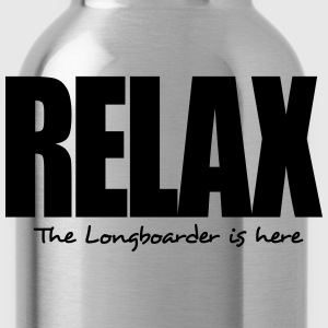 relax the longboarder is here - Water Bottle