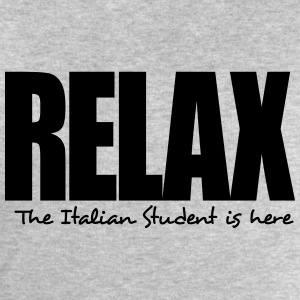 relax the italian student is here - Men's Sweatshirt by Stanley & Stella