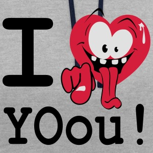 i_love_yoou_2 Tee shirts - Sweat-shirt contraste