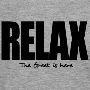 relax the greek is here - Men's Premium Longsleeve Shirt