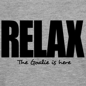 relax the goalie is here - Men's Premium Longsleeve Shirt