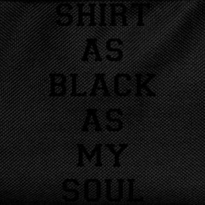 Shirt as black as my soul T-shirts - Rugzak voor kinderen