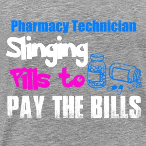 Pharmacy Technician Slinging Pills to Pay The Bills Langarmshirts - Männer Premium T-Shirt