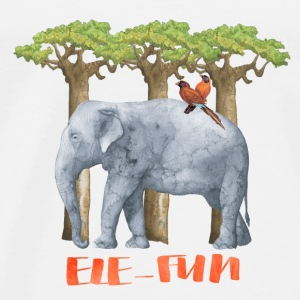 EleFun-elephant animal Africa illustration fun  Long Sleeve Shirts - Men's Premium T-Shirt
