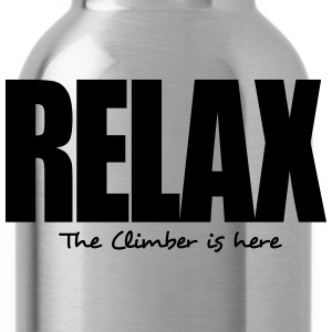 relax the climber is here - Water Bottle