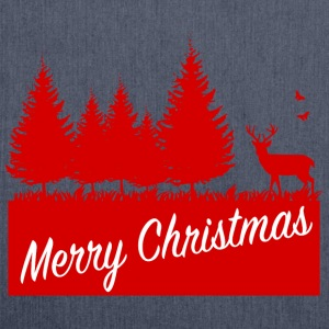 Forest merry christmas SP Pullover & Hoodies - Schultertasche aus Recycling-Material