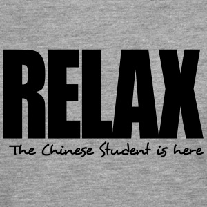 relax the chinese student is here - Men's Premium Longsleeve Shirt